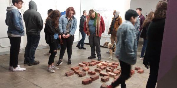 Visitors in East's studio during CASP/LHUCA's monthly FFAT