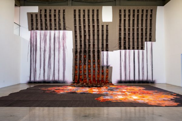 Carmen Argote: Me At Market, installation view, Visual Arts Center, University of Texas at Austin, January 24 –March 6, 2020. Photo: Sandy Carson.