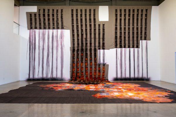 Carmen Argote: Me At Market, installation view, Visual Arts Center, University of Texas at Austin, January 24 –March 6, 2020. Photo: Sandy Carson.