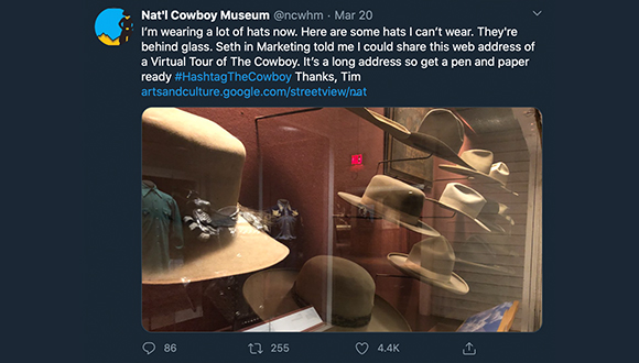 Cowboy-Museum-turns-twitter-account-over-to-security-guard-COVID-19-3-24-2020-3