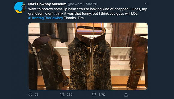 Cowboy-Museum-turns-twitter-account-over-to-security-guard-COVID-19-3-24-2020-4