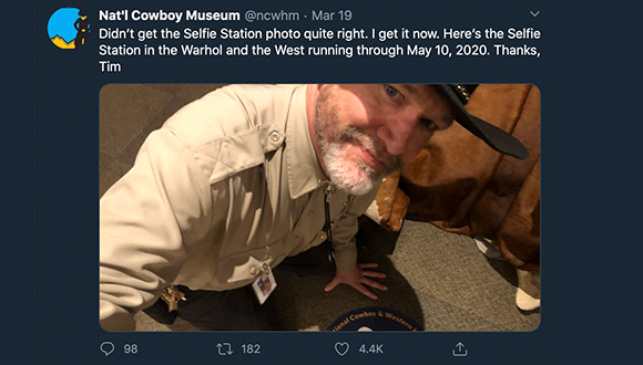 Cowboy-Museum-turns-twitter-account-over-to-security-guard-COVID-19-3-24-2020-5