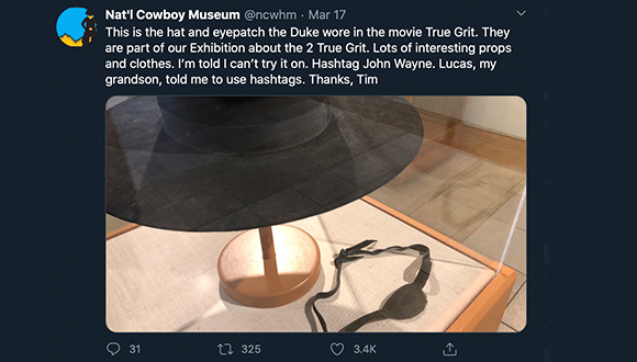 Cowboy-Museum-turns-twitter-account-over-to-security-guard-COVID-19-3-24-2020-7