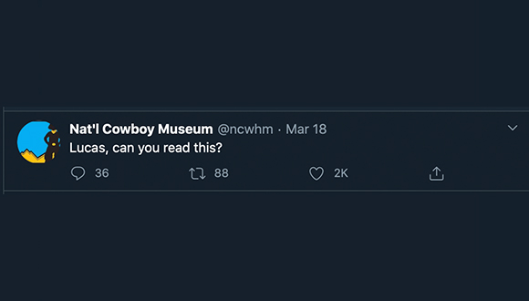 Cowboy-Museum-turns-twitter-account-over-to-security-guard-COVID-19-3-24-2020-8