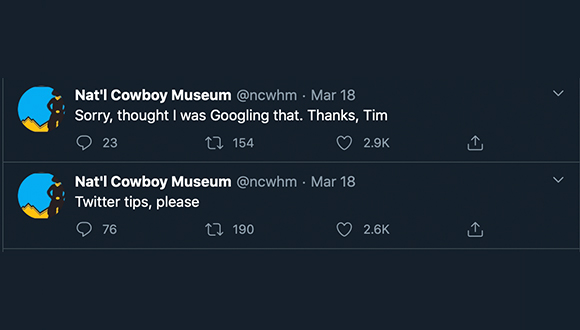 Cowboy-Museum-turns-twitter-account-over-to-security-guard-COVID-19-3-24-2020-9