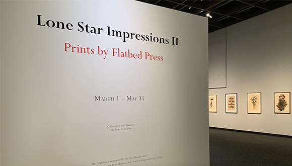 Exhibition of prints by Flatbed Press in Tyler Texas