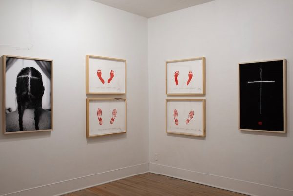 Installation view of Joe Harjo's The Only Certain Way