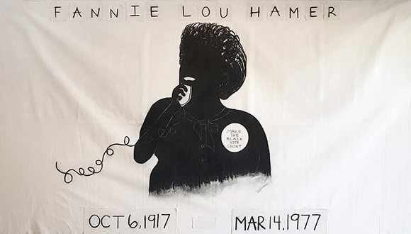 MAP2020-Flag-of-Fannie-Lou-Hamer-by-Taylor-Barnes-Charcoal-on-Fabric-5 x 8-2020jpg