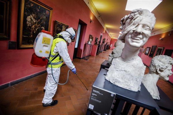 Museum in Naples Italy during the coronavirus