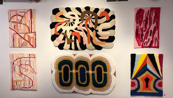 Rachel Comminos at Brick Gallery, San Antonio Texas