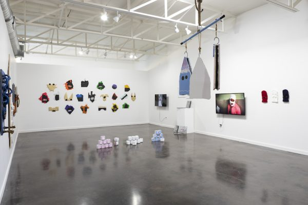 Installation view of David Jeremiah's solo show