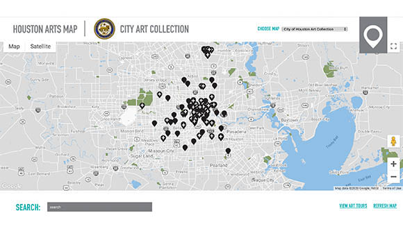 City-of-Houston-interactive-Art-map