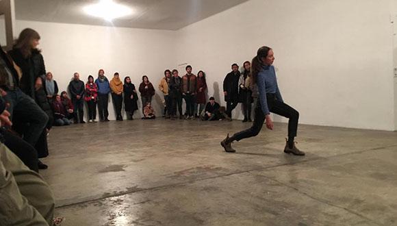 In 2019, choreographer Kim Brandt held an open studio at the Locker Plant.