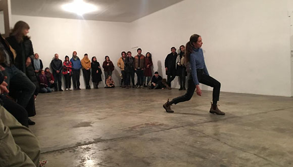 In 2019, choreographer Kim Brandt held an open studio at the Locker Plant.