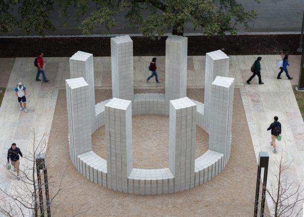 Sol LeWitt public art sculpture at UT Austin