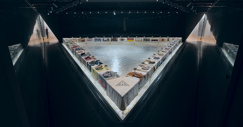 The Dinner Party by Judy Chicago (installation)1974-1979.