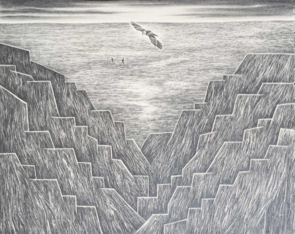 Drawing by artist Robyn O'Neil