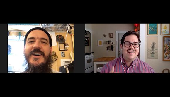 Brandon Zech talks with artist Jules Buck Jones