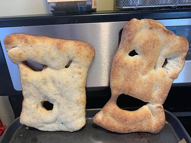Kristen Cochran's pizza dough experiments.