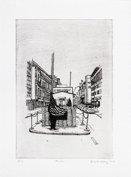 Print by Houston artist Vincent Valdez