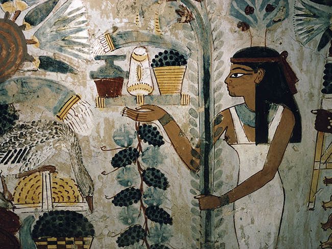 egypt--thebes--tomb-of-nakht--banquet-scene--tombs-of-the-nobles