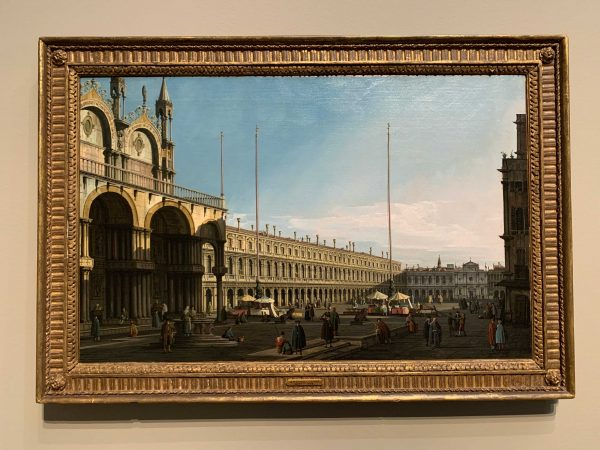 Painting by Canaletto at the Museum of Fine Arts, Houston