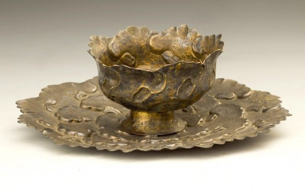 Chen studio, Stemmed Cup and Plate, Yuan dynasty (1279–1368)
