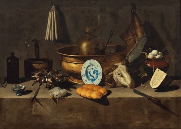 Giovan Battista Recco, Still Life with Candles and a Goat's Head, c. 1650.