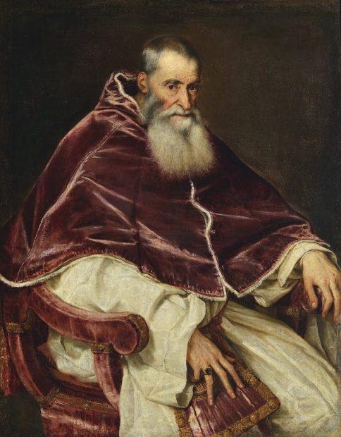 Titian, Pope Paul III, 1543.