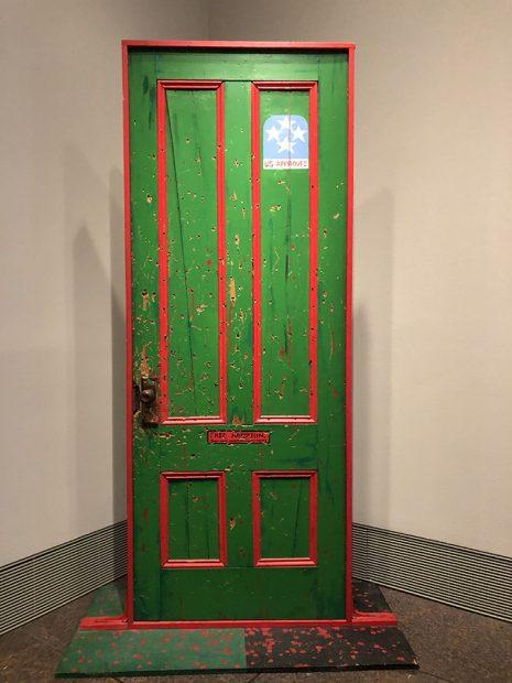 Fred Hampton's Door 2, 1975 Acrylic paint on wood, Professor Dana Chandler