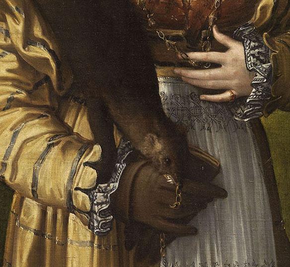 Parmigianino, Antea (detail), c. 1535.