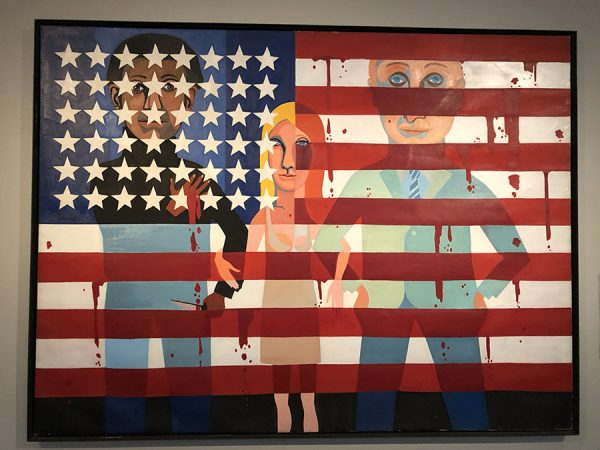 American People Series No. 18_The Flag is Bleeding- Faith Ringgold,American,born 1930