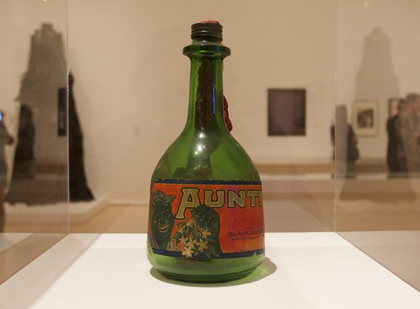 Betye Saar, Liberation of Aunt Jemima: Cocktail, 1973, mixed-media assemblage, 12 x 18 in.