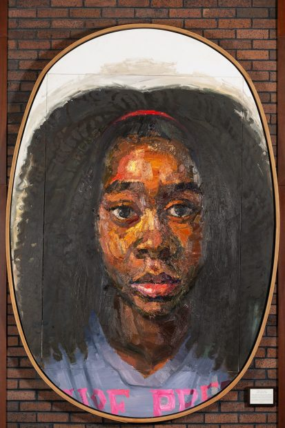 Sedrick Huckaby THE FAMILY: HALLE LUJAH, OIL AND CELLUCLAY ON CANVAS ON PANEL