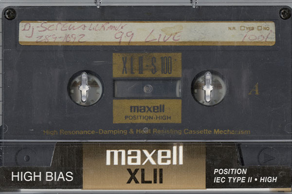 DJ Screw grey tape, courtesy the Special Collections at the University of Houston Libraries.