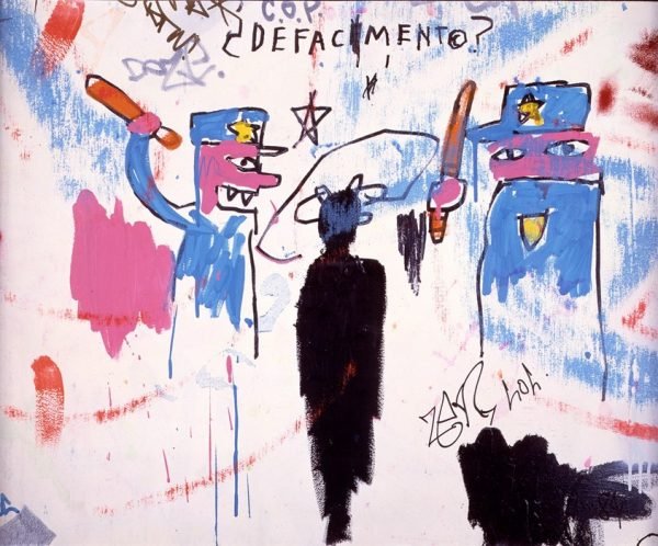 """Defacement (The Death of Michael Stewart), 1983© The Estate of Jean-Michel Basquiat / ADAGP, Paris / ARS, New York 2016"""