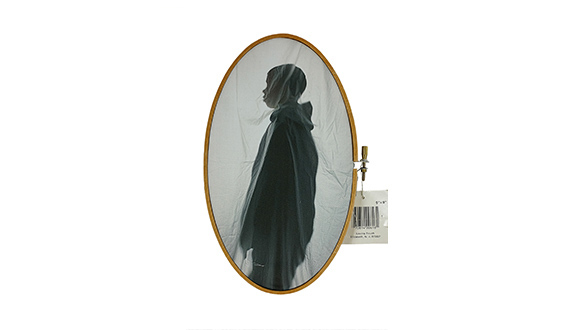 Letitia-Huckaby-Not For Sale, Pigment Print on Cotton Fabric with Embroidery Hoop,9 ¼ x 57:8- 2020