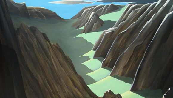 Painting (detail) by Don Anderson.