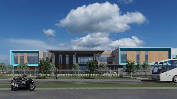 Rendering for new Sunnyside Multi-Service and Health Center-Houston