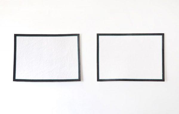 Tino Ward, Horizonal Flanking: small scale (after Jo Baer), 2020.