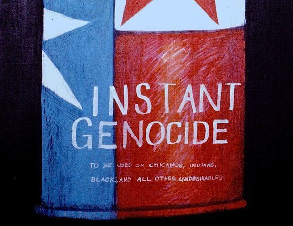 Felipe Reyes (b. 1944), Instant Genocide, detail.
