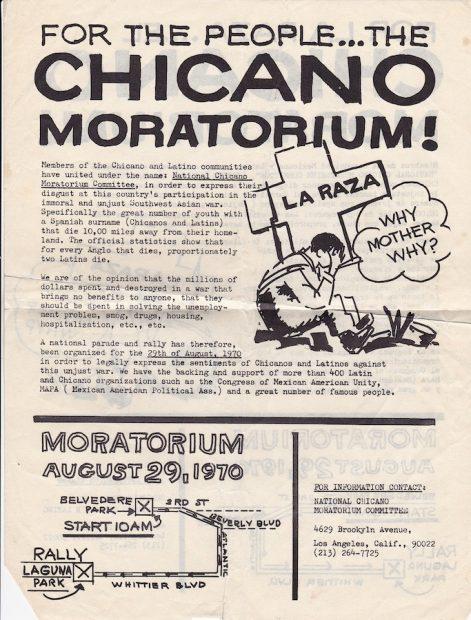 Chicano Moratorium Flyer, 1970
