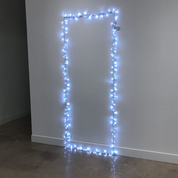 """Lynne Harlow, """"The Way"""", 2020 white lights and white cord"""