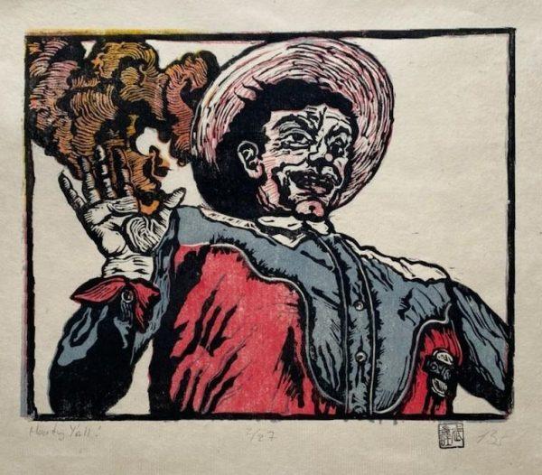 """""""Howdy, Y'all,"""" by artist Brian Scott."""