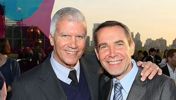 Larry Gagosian and Jeff Koons at the Metropolitan Museum of Art in 2008. Photo- Andrew H. Walker:Getty Images. Via Artnet News