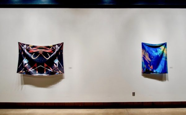 Installation view of Mica Lilith Smith's Of Origin and Longing, currently at LHUCA in Lubbock