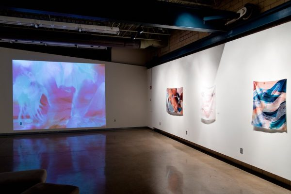 Installation view of Mica Lilith Smith's Of Origin and Longing, at LHUCA in Lubbock