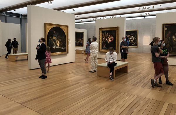 Social distancing at the Kimbell Art Museum, July 24, 2020
