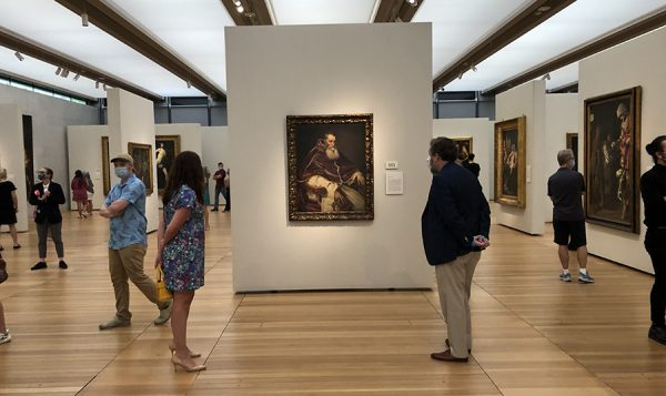 Some social distancing at the Kimbell Art Museum, July 24, 2020
