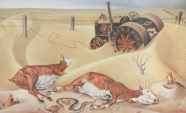 """""""Drought Survivors, 1936,"""" Alexandre Hogue."""